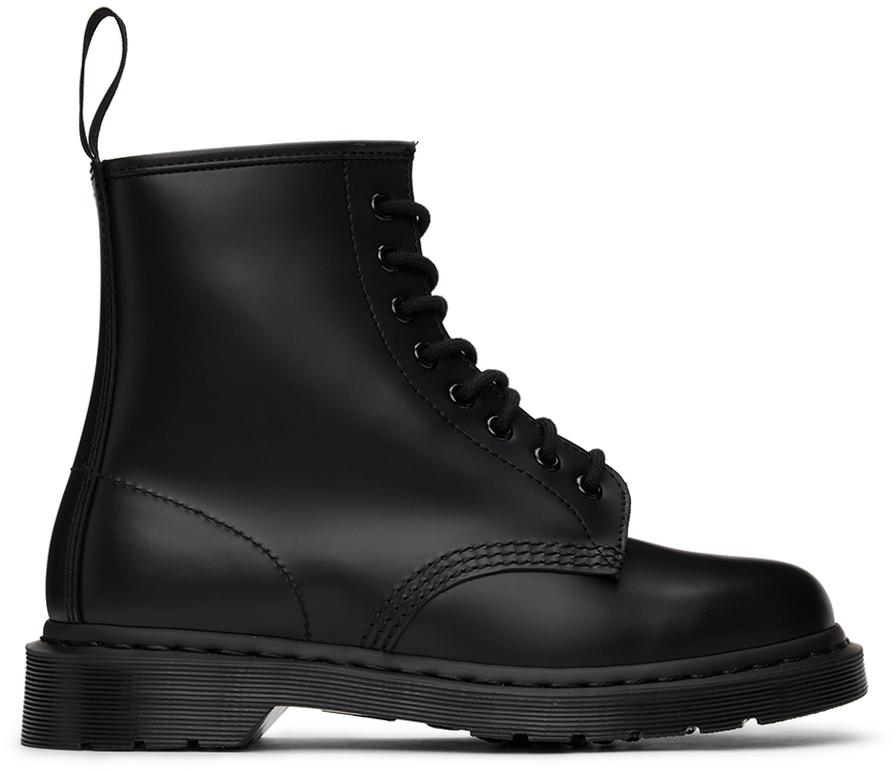 Black 1460 Mono Boots