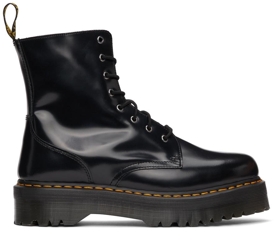 Black Polished Jadon Platform Boots