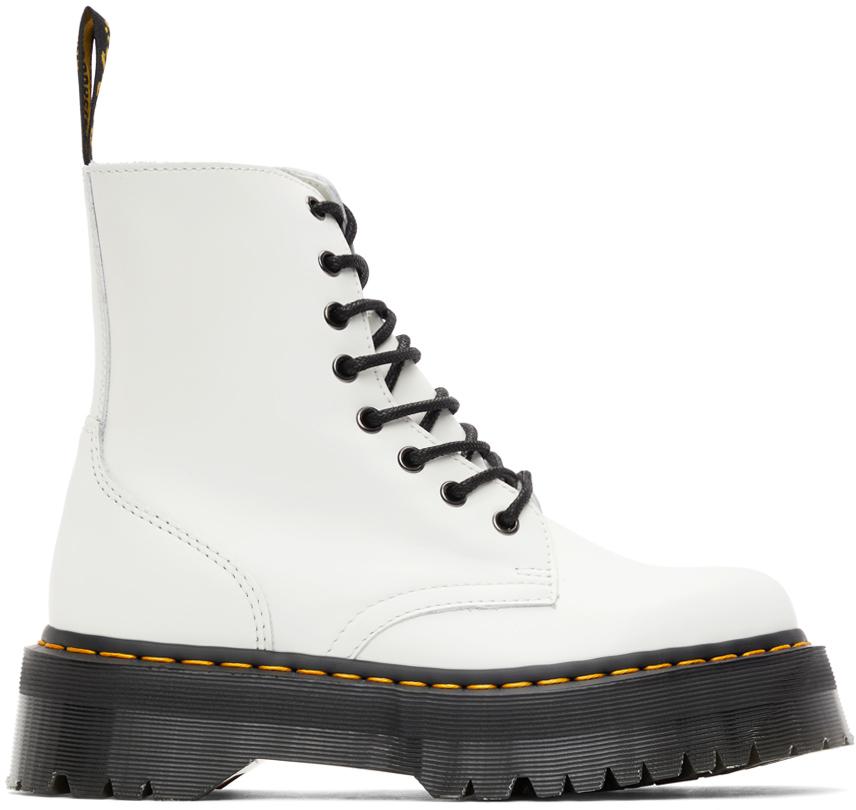 White Jadon Platform Boots