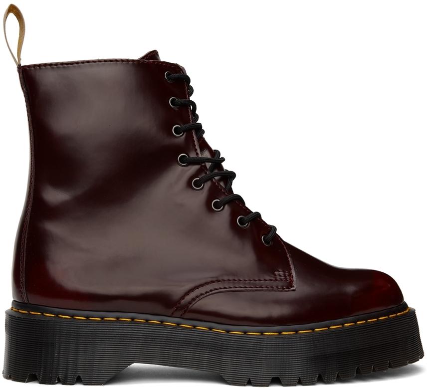 Burgundy Vegan Jadon II Boots