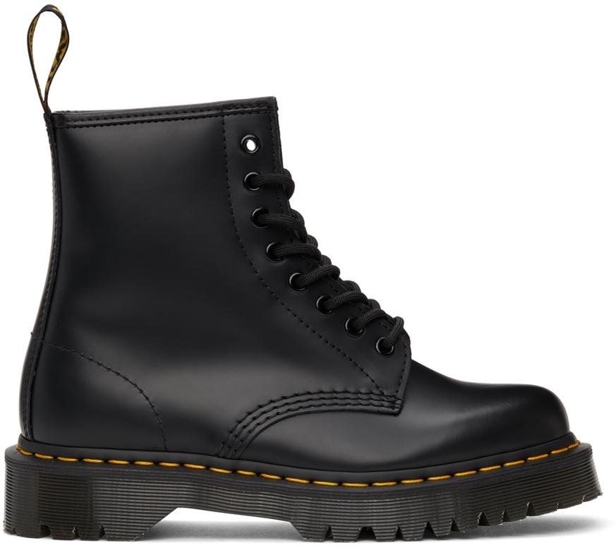 Black Smooth Bex Platform Boots