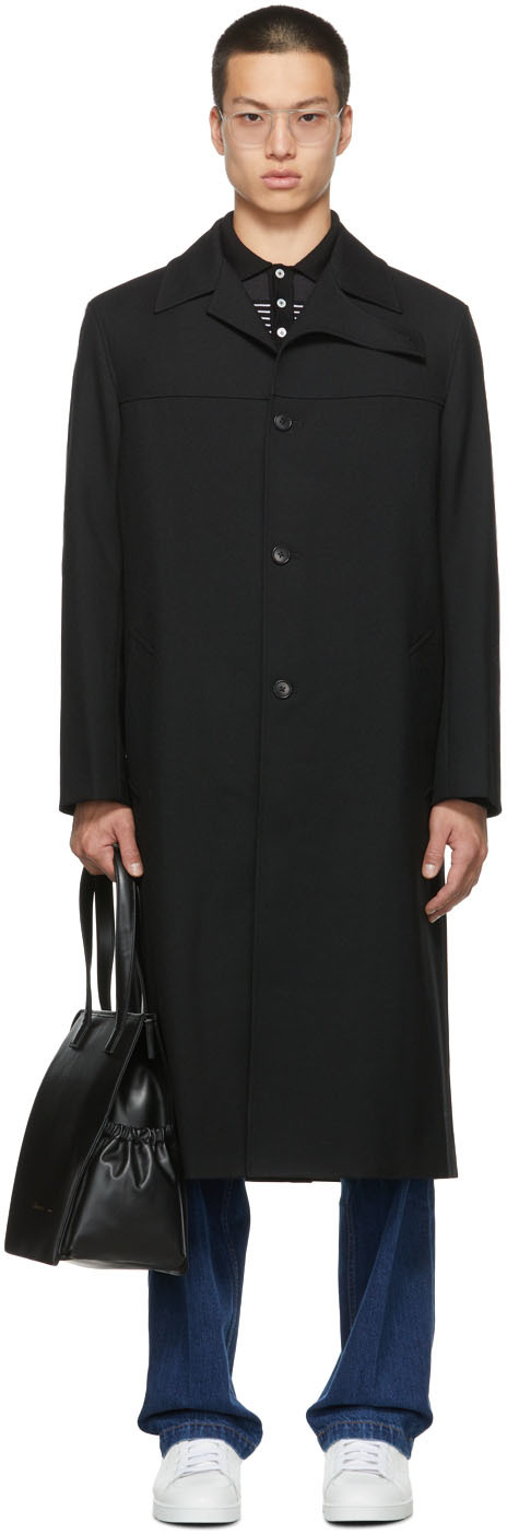 SSENSE Exclusive Wool Curved Flap Coat