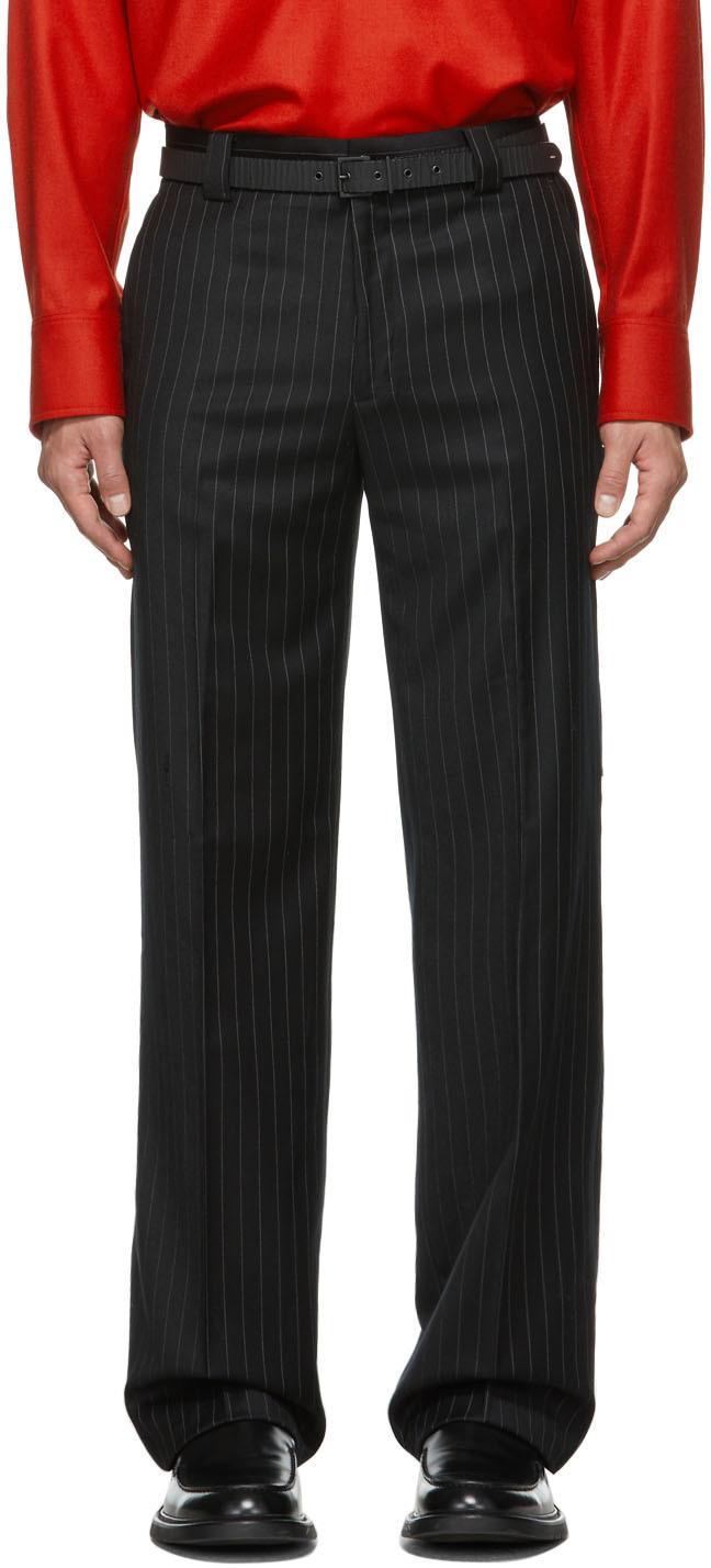 SSENSE Exclusive Pinstripe Carpenter Tailored Trousers