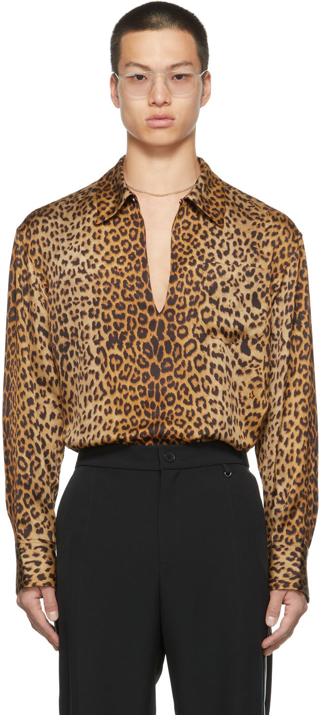SSENSE Exclusive Leopard Front Cut Rodeo Shirt