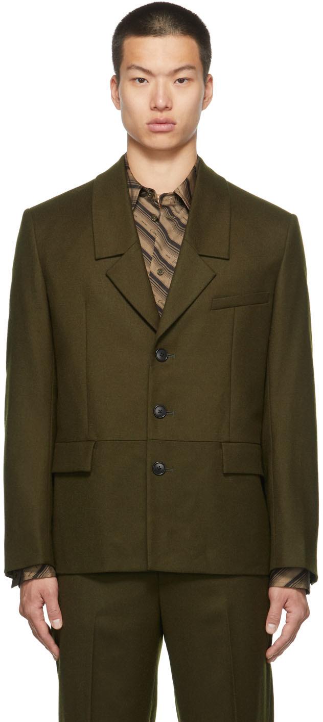 SSENSE Exclusive Wool Dropped Collar Blazer