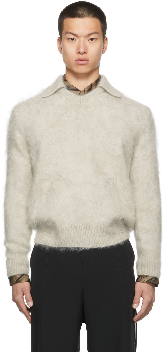 SSENSE Exclusive Cashmere Soccer Long Sleeve Polo