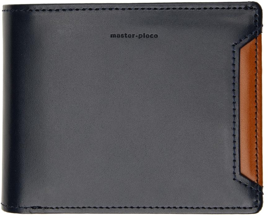 Navy & Tan Notch Wallet