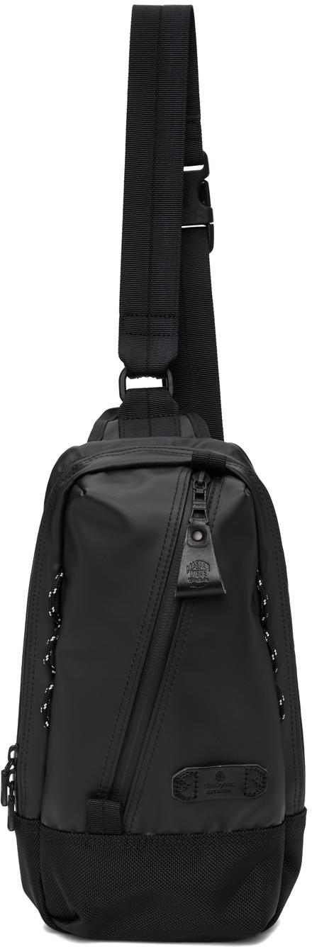 Black Slick Shoulder Backpack