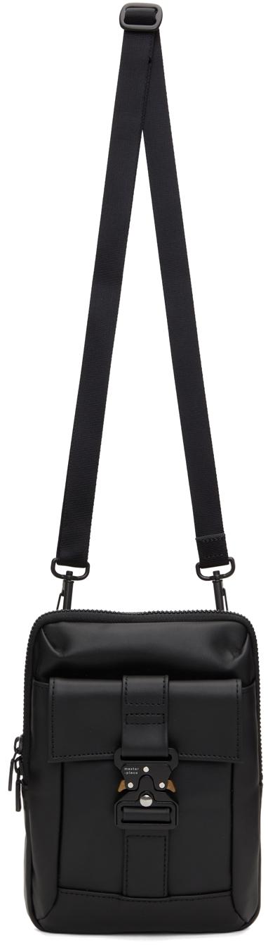 Black Leather Confi Messenger Bag