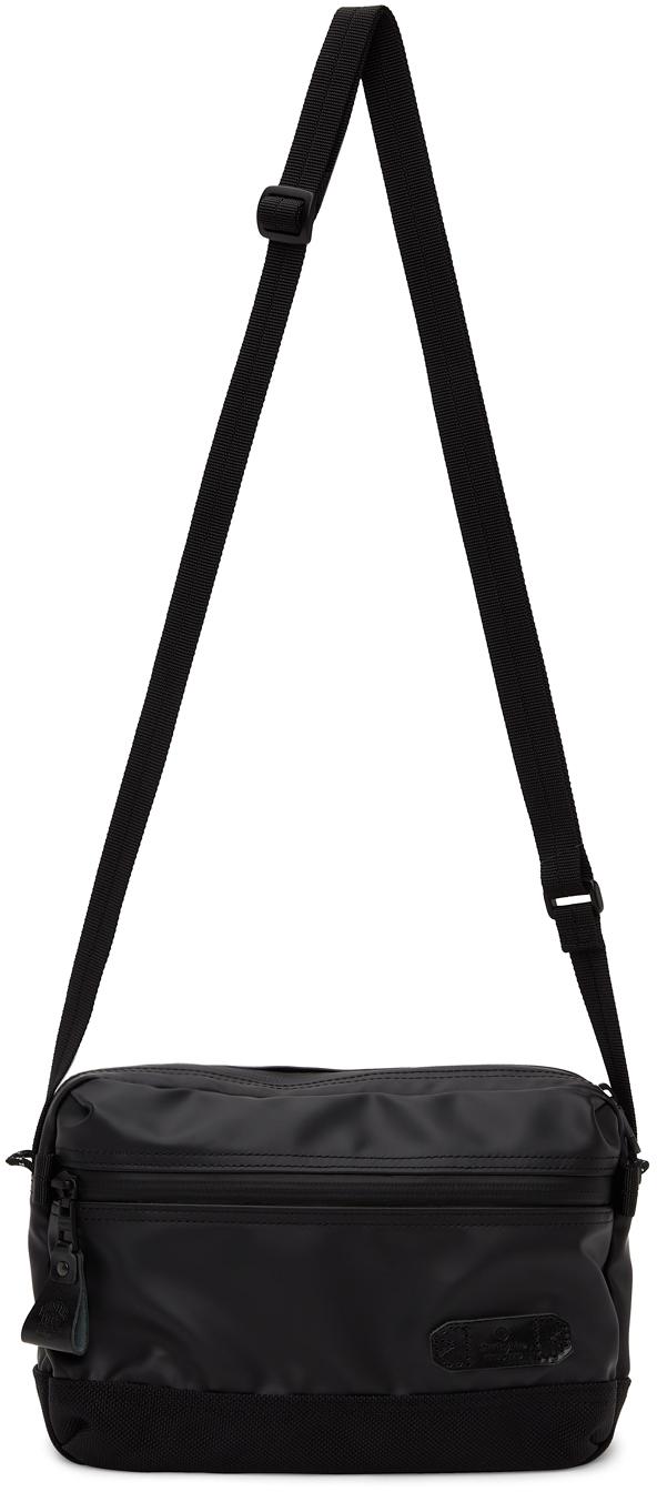 Black Slick Messenger Bag