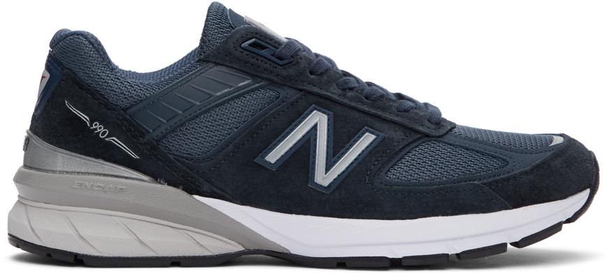 Navy Made In US 990 v5 Sneakers