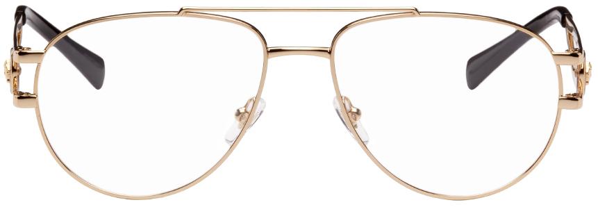 Gold Medusa Aviator Glasses