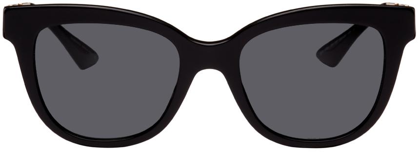 Black Greca Cat-Eye Sunglasses