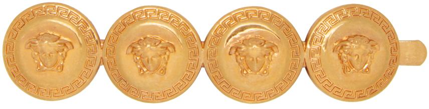 Gold Left Medusa Coin Tribute Hair Pin