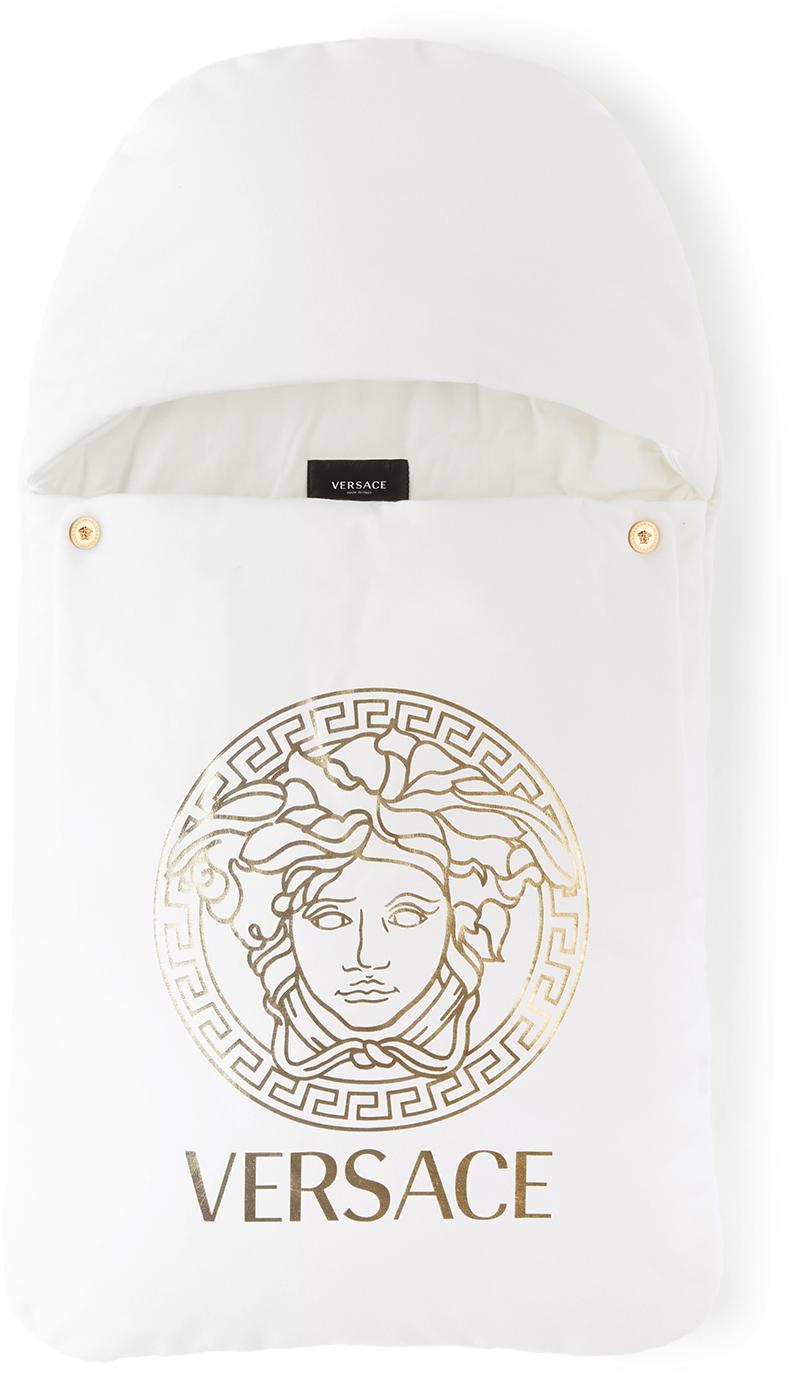 Versace Baby White Medusa Nest Sleeping Bag