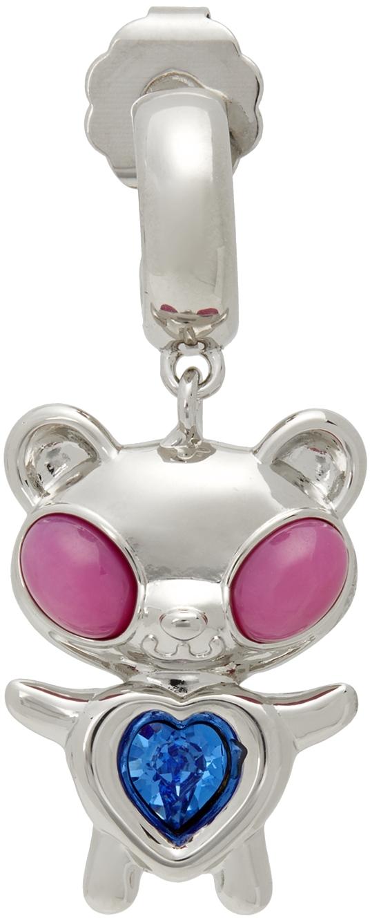 SSENSE Exclusive Pink & Blue Hybrid Bear Earring