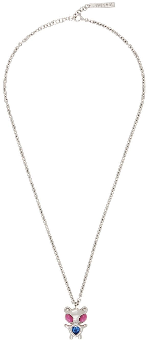 Silver Hybrid Bear Necklace