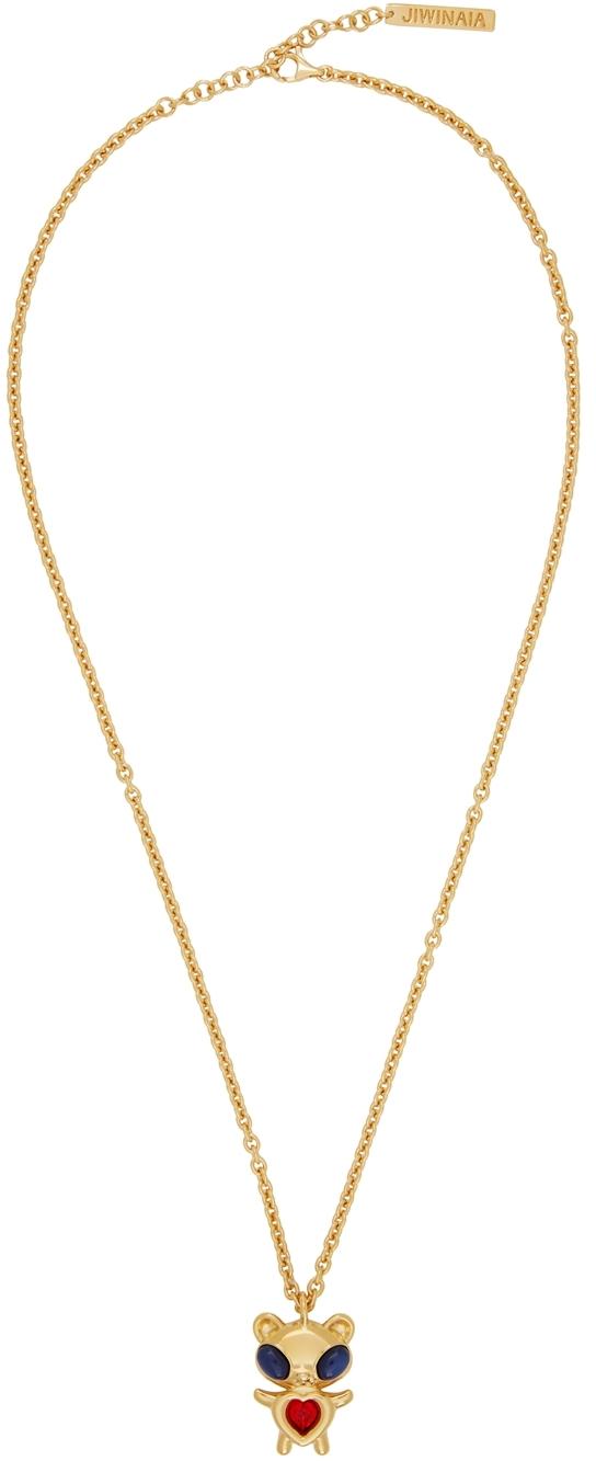 SSENSE Exclusive Gold Hybrid Bear Necklace