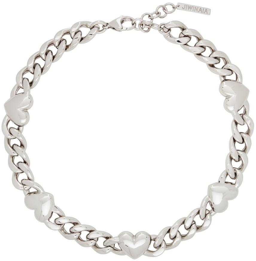 Silver XL Heart Necklace