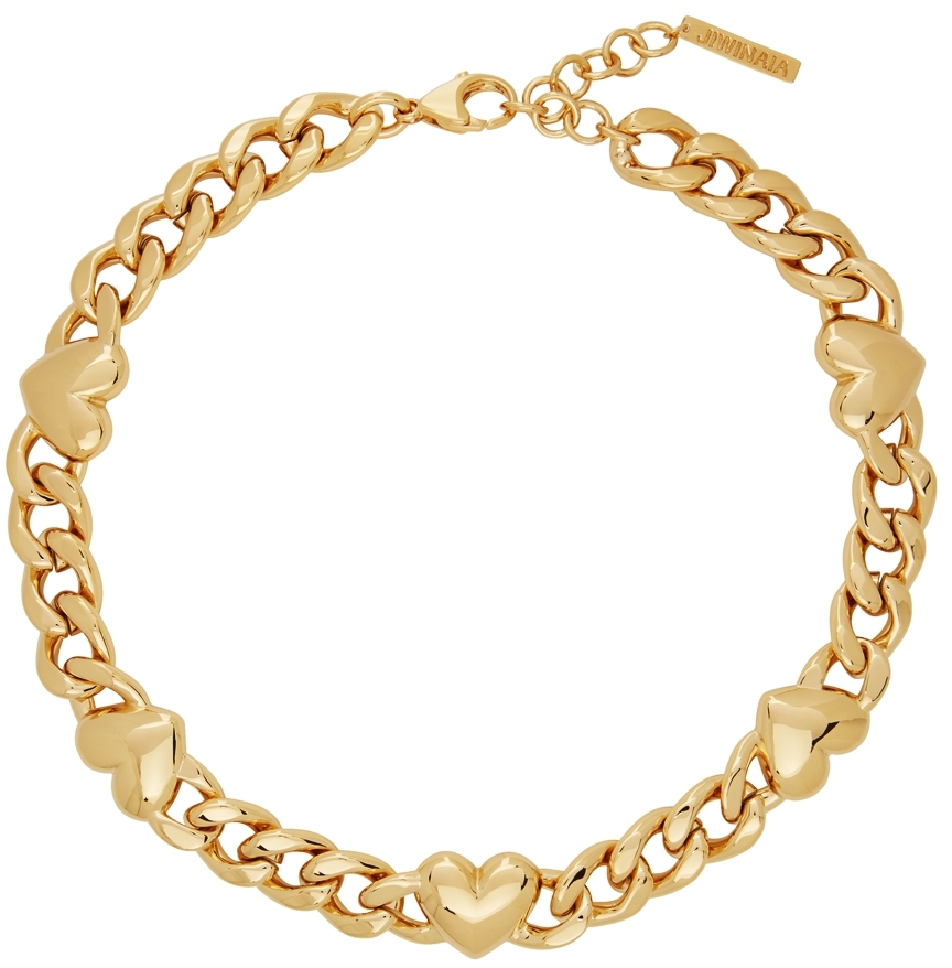 Gold XL Heart Necklace