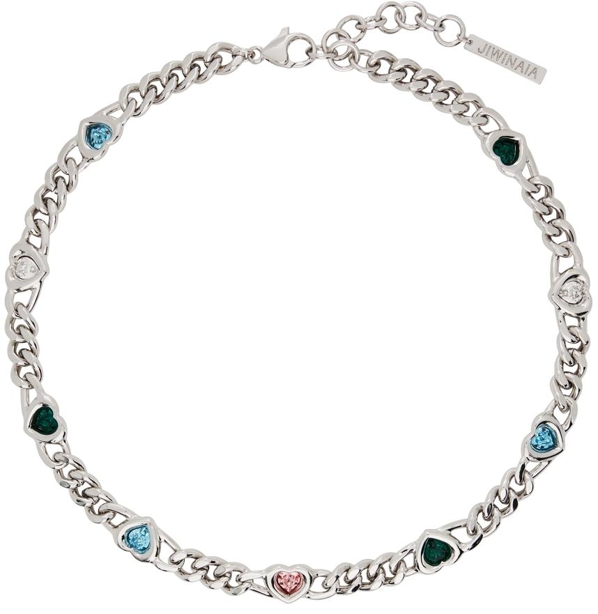 SSENSE Exclusive Silver Heart Necklace