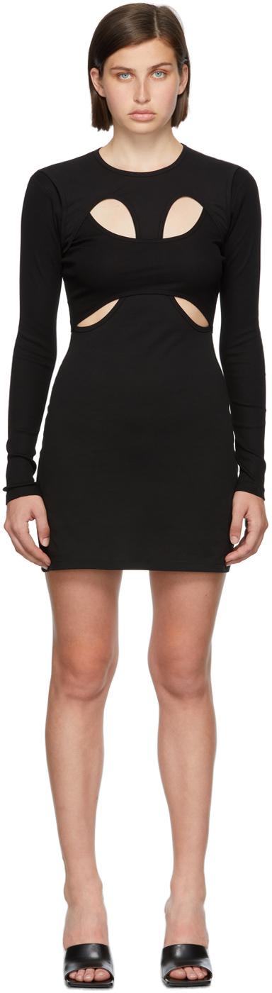 Black Breathable Tee Dress