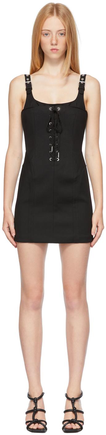 Black Contour Stitch Dress