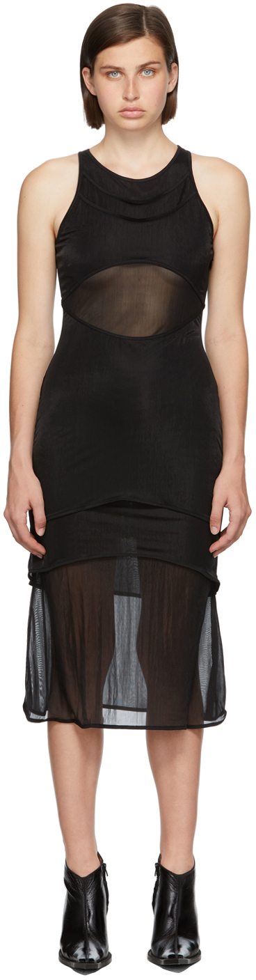 Black Shadow Overlay Dress