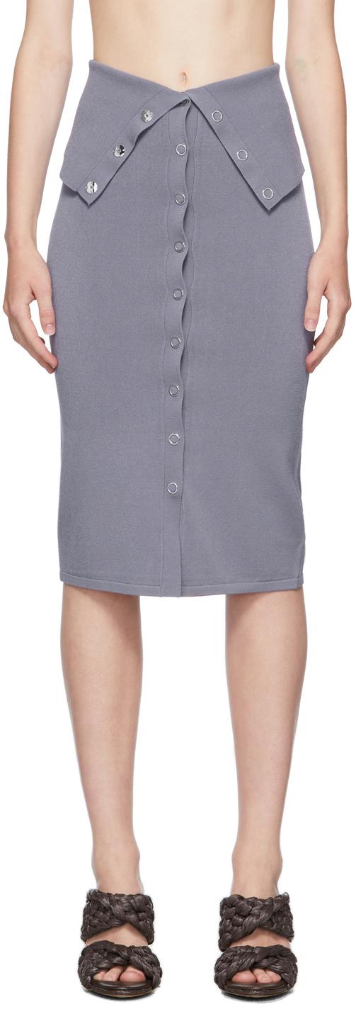 Blue Hosiery Placket Skirt