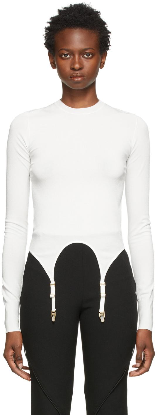 White Garter Long Sleeve T-Shirt