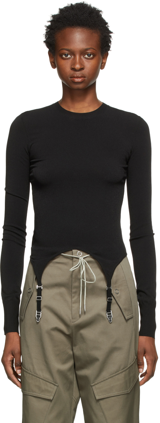 Black Garter Long Sleeve T-Shirt