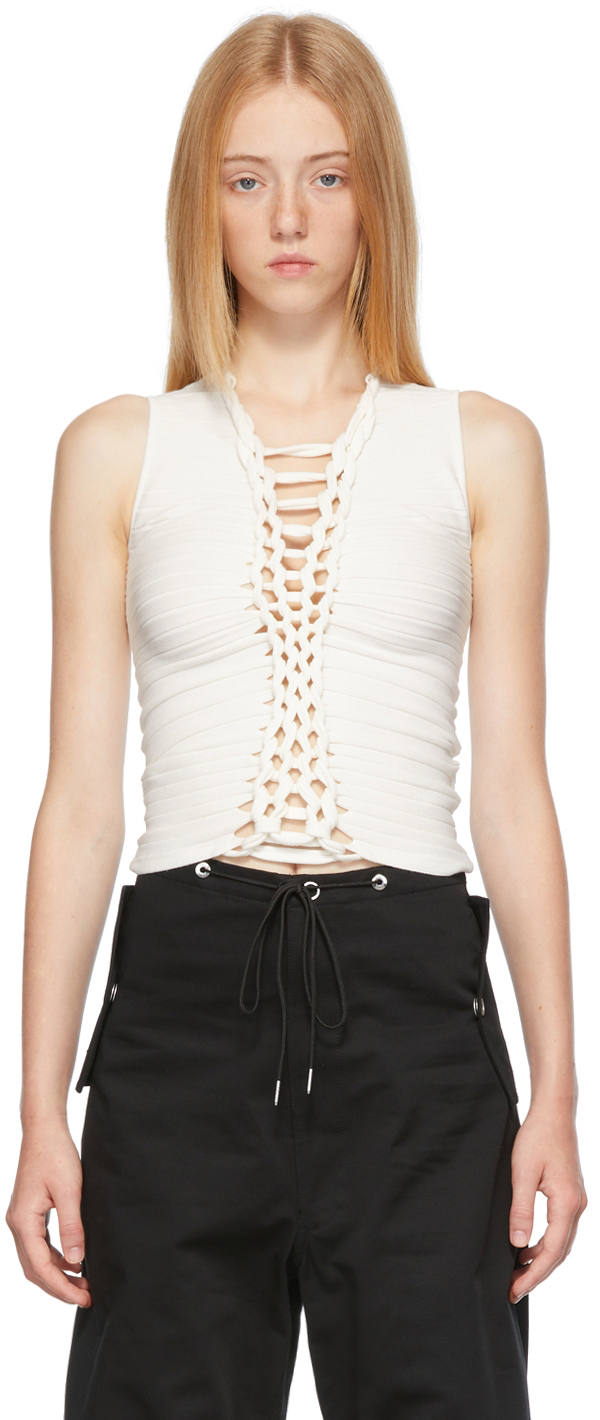 Off-White Central Braid Tank Top