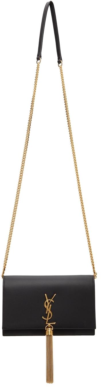 Black Kate Tassel Chain Wallet Bag