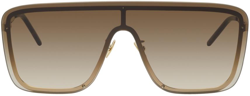 Gold SL 364 Shield Sunglasses