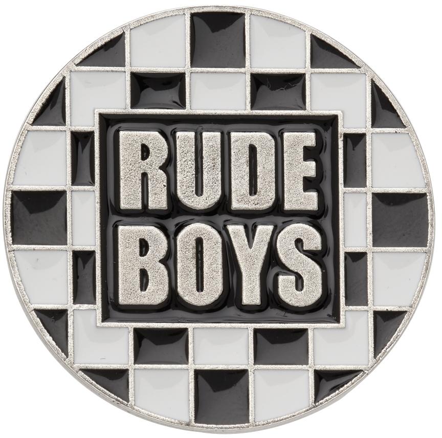 Silver & Black 'Rude Boys' Pin
