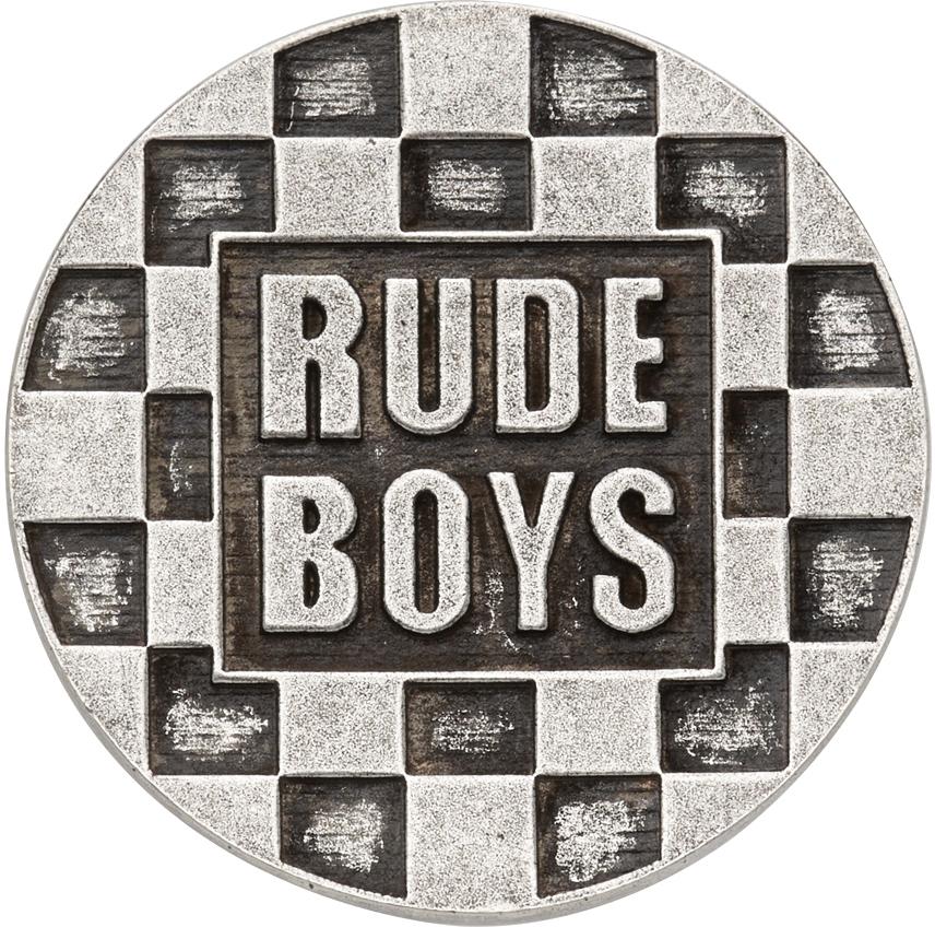 Silver 'Rude Boys' Pin