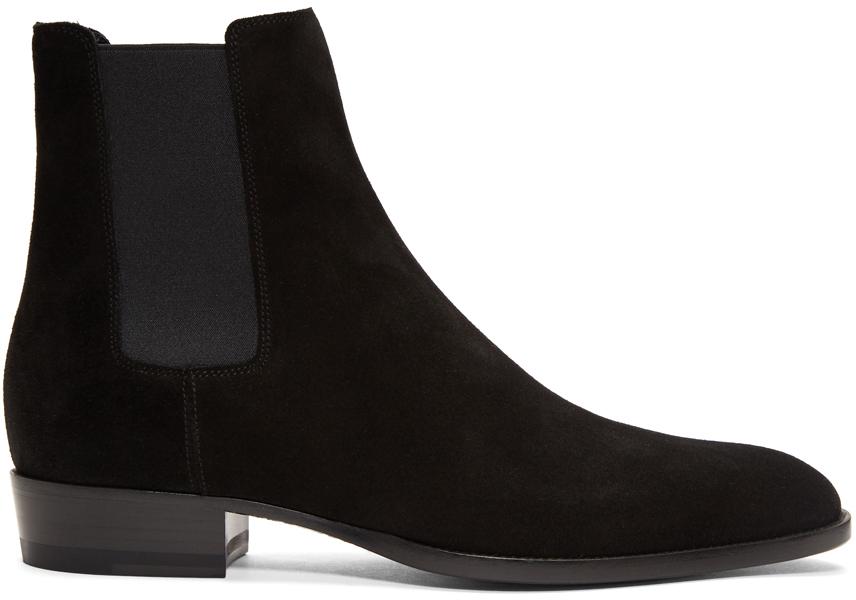 Black Suede Wyatt Chelsea Boots