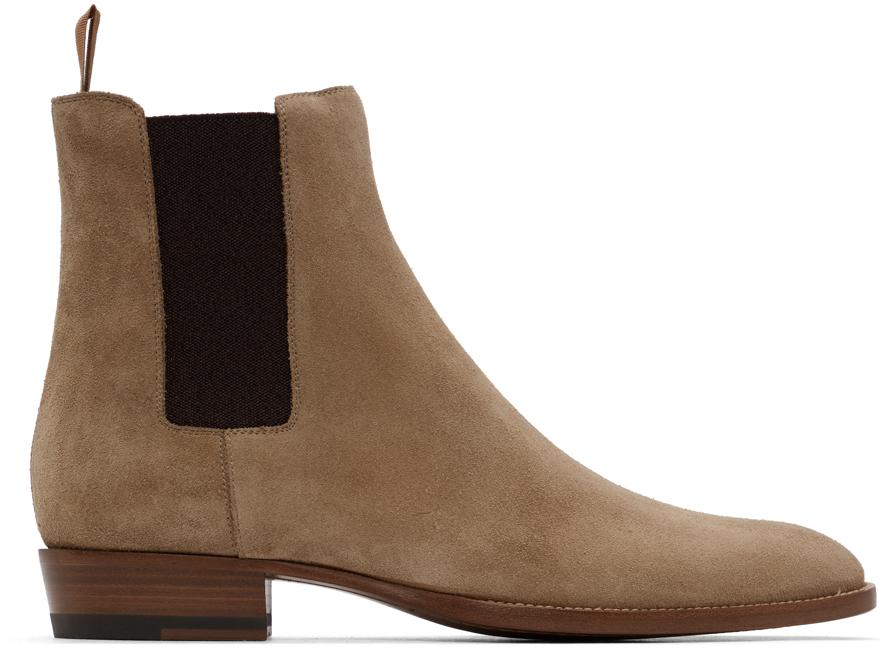 Beige Suede Wyatt Chelsea Boots