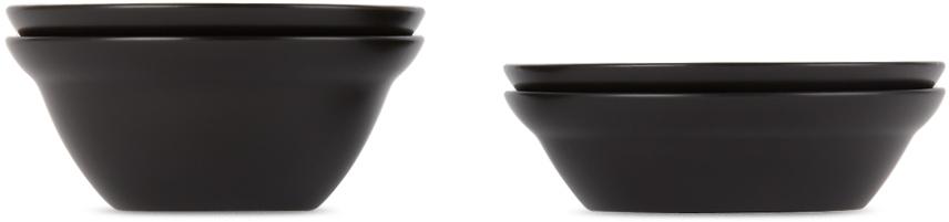 ブラック 陶器 Zen ボウル セット
