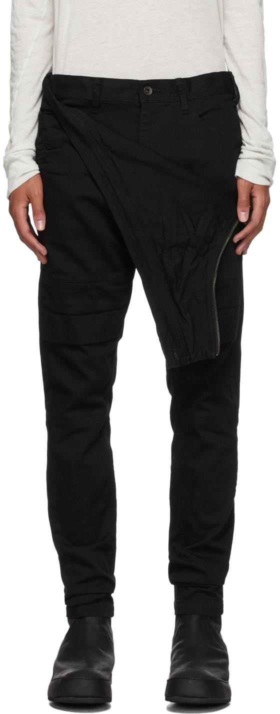 Black Layered Slim Jeans