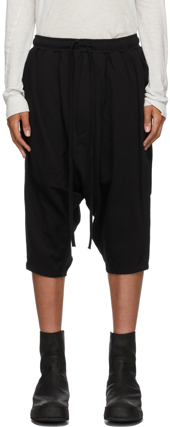 Black Twisted Cropped Lounge Pants