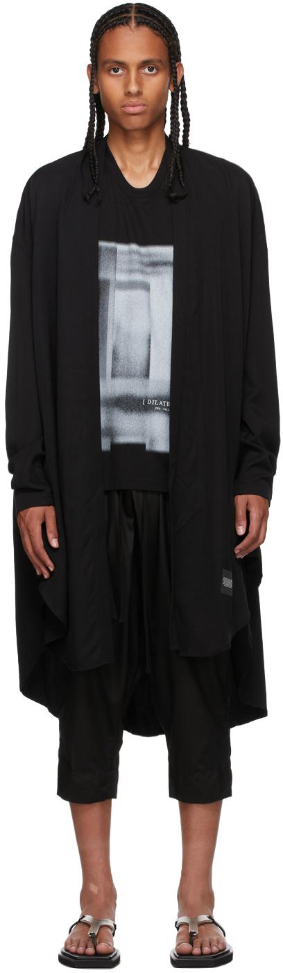 Black Robe Shirt Coat