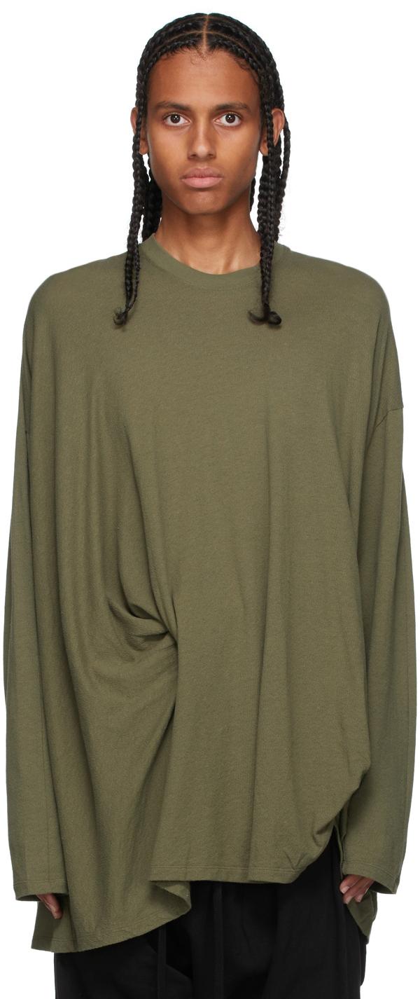 Khaki Tucked Long Sleeve T-Shirt