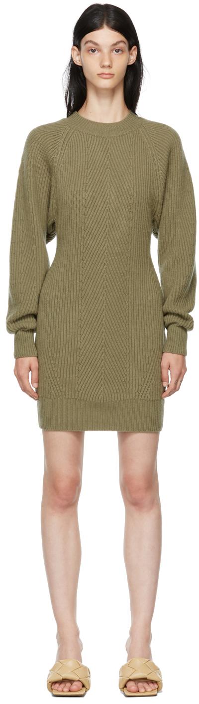 SSENSE Exclusive Green Wool Volume Dress