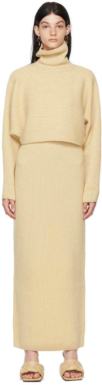 Yellow Wool Turtleneck & Dress Set