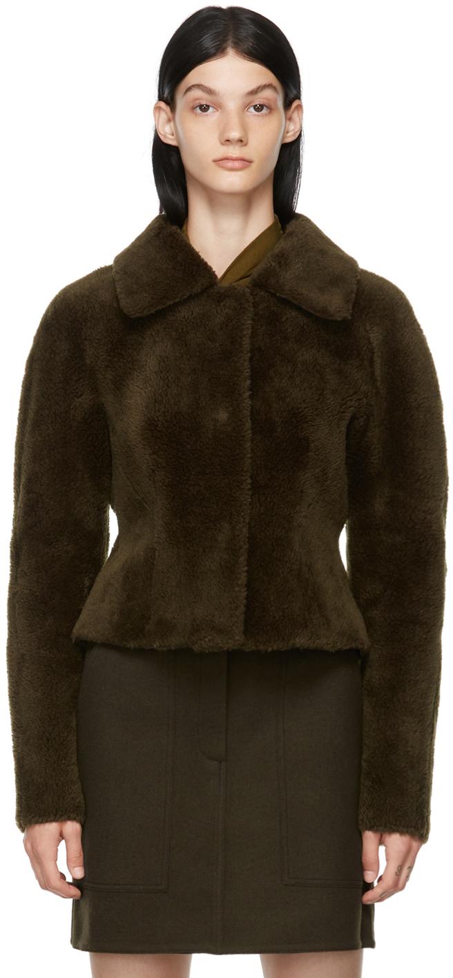 Khaki Faux-Fur Short Jacket