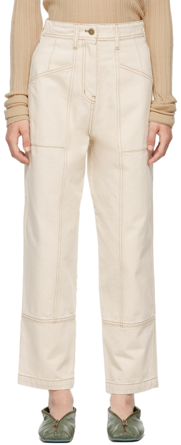 Off-White Recycled Cotton Denim Trousers