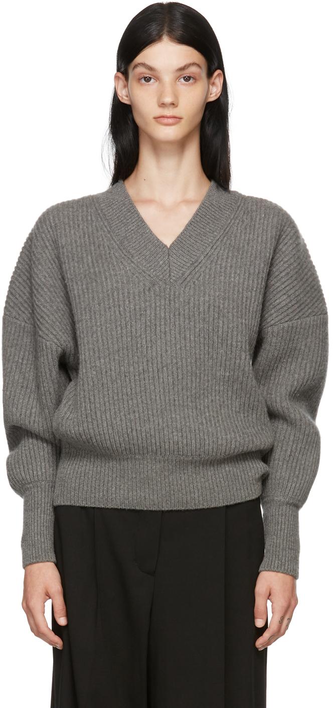 Grey Wool Volume Sweater