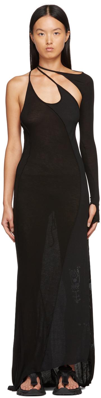 SSENSE Exclusive Black Single-Sleeve Long Dress