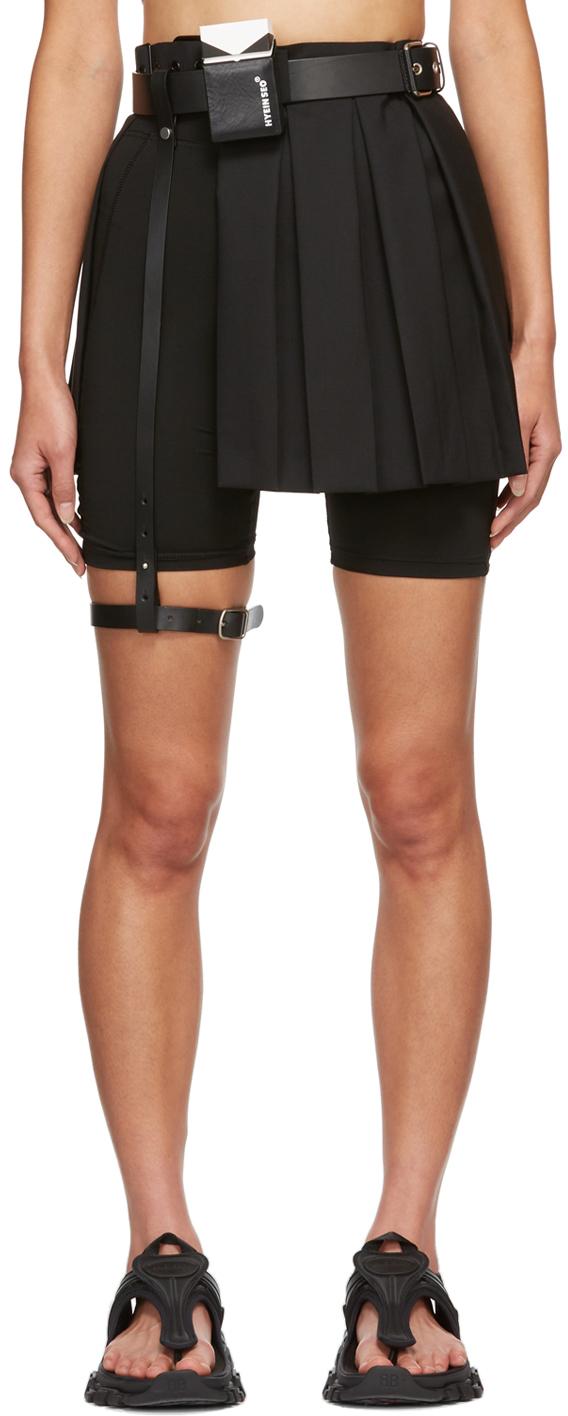 SSENSE Exclusive Black Pleated Miniskirt